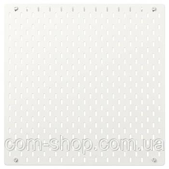 IKEA Настенная панель, Доска перфорированная, белый, 56x56 см