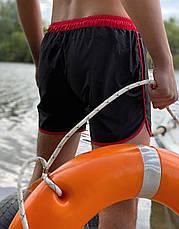 Купальные пляжные Шорты Intruder черные - красные, фото 3