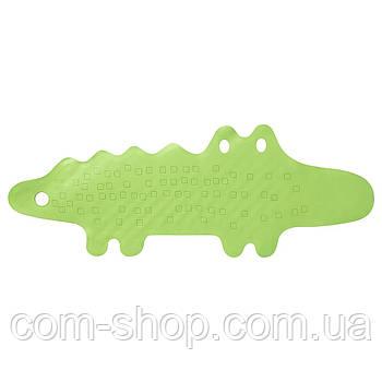 Коврик в ванну IKEA, килим крокодил противоскользящий резиновый на дно ванны, ванной комнаты 33x90 см, зеленый