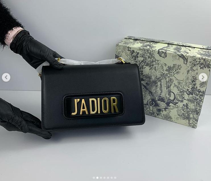 Сумка в стиле Диор на руку, фурнитура золото / люкс-копия (0011) Черный