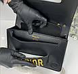 Сумка в стиле Диор на руку, фурнитура золото / люкс-копия (0011) Черный, фото 5