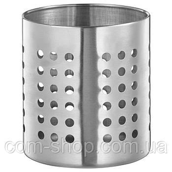 Сушилка для столовых приборов IKEA, подставка для кухонных принадлежностей, нержавеющая сталь, 13.5 см