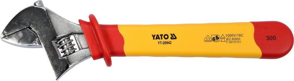 Ключ разводной диэлектрический VDE 300 мм YATO YT-20942