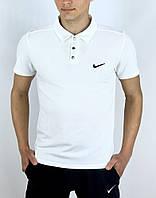 Футболка поло Nike белая, фото 1