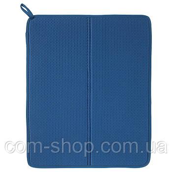 Коврик для сушки посуды IKEA, подставка сушка настольная, сушилка для кухни, 44x36 см, синий