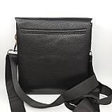 Шкіряна чоловіча сумка через плече / Мужская кожаная сумка через плечо, фото 4