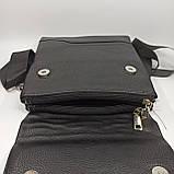 Шкіряна чоловіча сумка через плече / Мужская кожаная сумка через плечо, фото 5