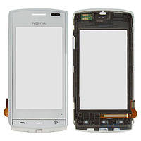 Сенсор (тачскрин) Nokia 500 with frame White