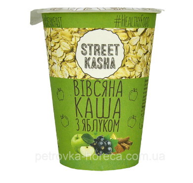 Каша овсяная с яблоком STREET KASHA, 50 г (стакан)