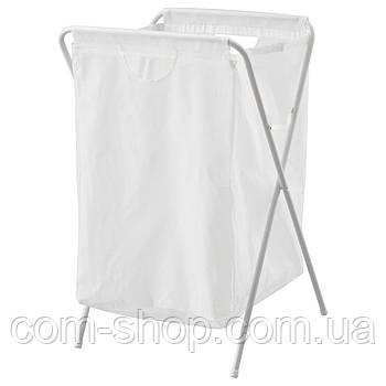 Мешок для белья на опоре IKEA, корзина в ванную для хранения грязной одежды, детских игрушек, 70 л белый