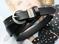Женский кожаный ремень Calvin Klein черный, фото 1