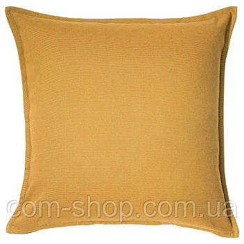 Чехол на подушку диванную IKEA, 50x50 см, золотисто-желтый