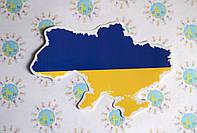Наклейка на авто Карта Украины