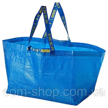 Сумка IKEA, вместительная, дорожная для продуктов, 71 л, большая, синий