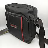 Шкіряна чоловіча сумка через плече / Мужская кожаная сумка через плечо, фото 3