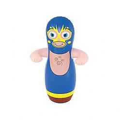 """Надувная игрушка-неваляшка Bestway """"Надувная груша: Синий Борец"""" для детей от 3-х лет"""