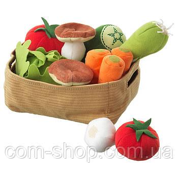 Овощи разрезные IKEA игрушки, игровой набор продуктов питания, еды, 14 шт.