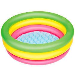 Детский круглый надувной бассейн с ремкомплектом BestWay,70 х 23 см