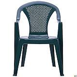 Вуличний стілець AMF Ischia зелений пластик для саду на терасу в кафе, фото 6