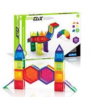 Конструктор магнитный развивающий для детей Guidecraft PowerClix Solids, 94 детали