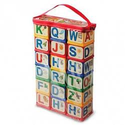 """Детские кубики развивающие с цифрами и знаками """"Английский алфавит» Юника, 18 шт"""