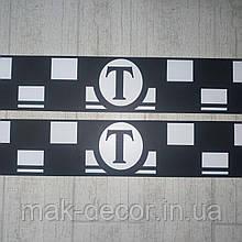 Магнітна наклейка на авто для Таксі (в комплекті 2 шт розміром 12х62 см)