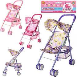 Детская прогулочная коляска трость для кукол складная Metr+