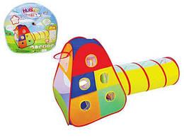 Складная палатка для детей с тоннелем и кольцом для игры в мячMtoys, 165 х 87 х 70 см