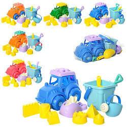 Детский игровой набор для песочницы Babyplus. Яркие пластиковые игрушки для пляжа для детей от 3 лет.