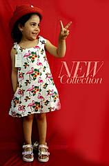 Детское летнее платье Птички на 3- 5 лет
