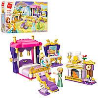 """Красочный конструктор для девочек """"спальня принцессы"""" 265 деталей Qman"""