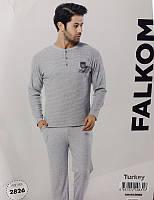 Комплект мужской домашней одежды, (Кофта длинный рукав +штаны), р.M-XL, ПАК/3шт.,Falkom