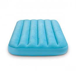 Надувной велюровый матрас Wave Beam Intex 88х157х18 см. Матрас для сна и отдыха с приятным на ощупь покрытием