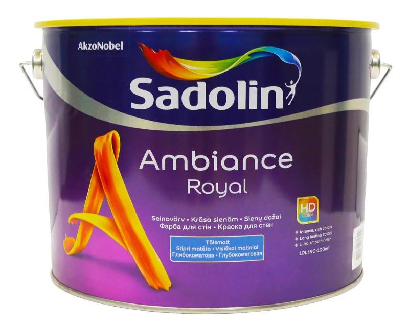 Краска акрилатная SADOLIN AMBIANCE ROYAL интерьерная белый (база ВW) 10л