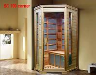 Одноместная угловая инфракрасная сауна SC 100 Сorner