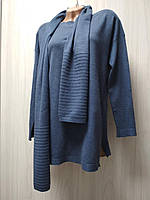 Туника -джемпер Серая и Черная . Пуловер Свитер Удлененный. 46 -52 - Универсальный размер объединенный .