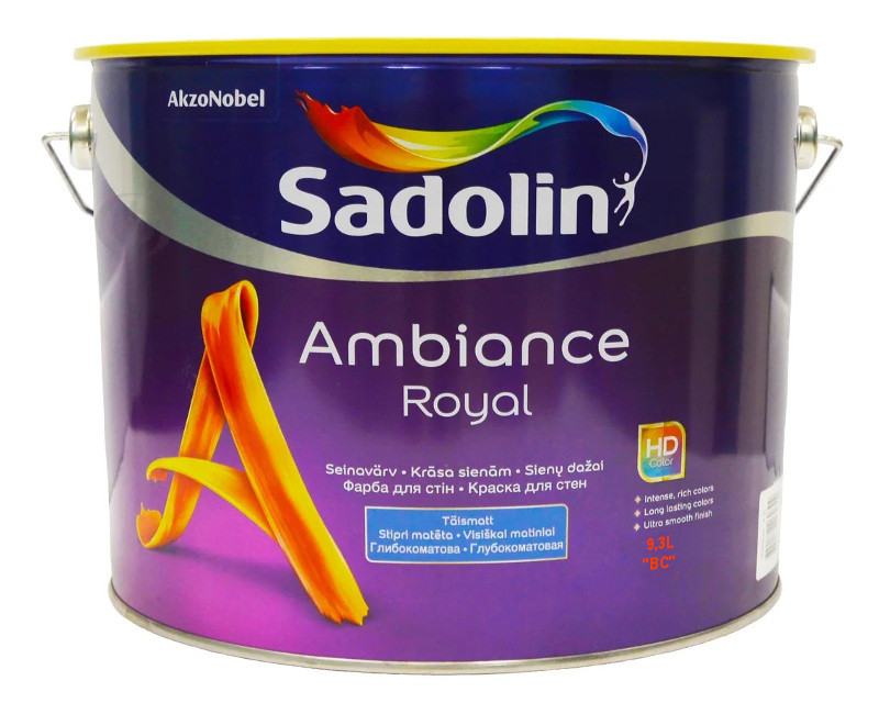 Краска акрилатная SADOLIN AMBIANCE ROYAL интерьерная транспарентная (база ВC) 9,3л