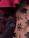 Карина. Женская блуза с рюшами больших размеров. Бордо., фото 9