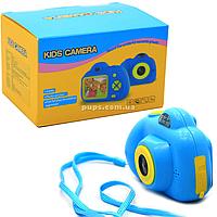 Интерактивная игрушка фотоаппарат детский c играми, голубой (A012)