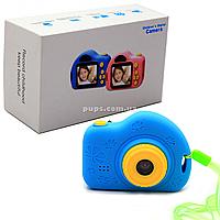 Интерактивная игрушка фотоаппарат детский c играми, голубой (C5-B)