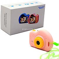 Интерактивная игрушка фотоаппарат детский c играми, розовый (C5-B)