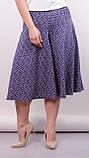 Лоліта. Оригінальні шорти-спідниця великих розмірів. Пудра+абстракція., фото 2