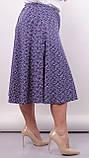 Лоліта. Оригінальні шорти-спідниця великих розмірів. Пудра+абстракція., фото 3