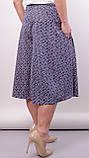 Лоліта. Оригінальні шорти-спідниця великих розмірів. Пудра+абстракція., фото 4