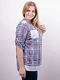 Мірей. Модна сорочка плюс-сайз. Синій., фото 2