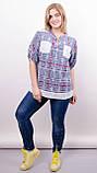 Мірей. Модна сорочка плюс-сайз. Синій., фото 4