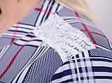 Мірей. Модна сорочка плюс-сайз. Синій., фото 6