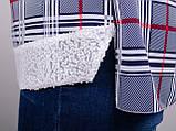 Мірей. Модна сорочка плюс-сайз. Синій., фото 8