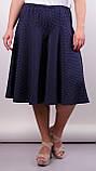 Лолита. Оригинальные шорты-юбка больших размеров. Синий+горох., фото 2