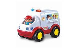 Детская машинка игрушечная Скорая помощь со звуковыми и световыми эффектами Metr+